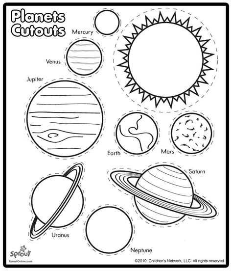 free coloring pages of the nine planets