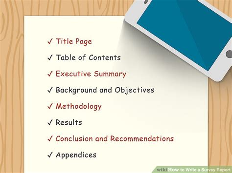 write  survey report  pictures wikihow