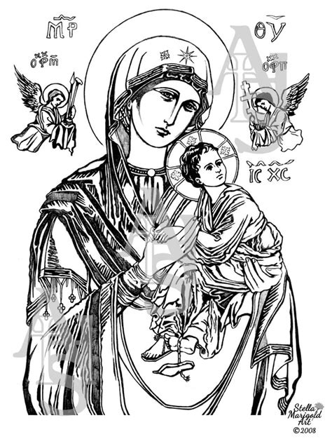 christian icon coloring pages our lady of perpetual help coloring page icons and