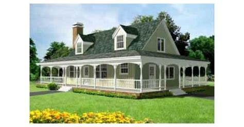 Square House Plans With Wrap Around Porch The Wrap Around Porch Houses I Country Houses Square And Porch