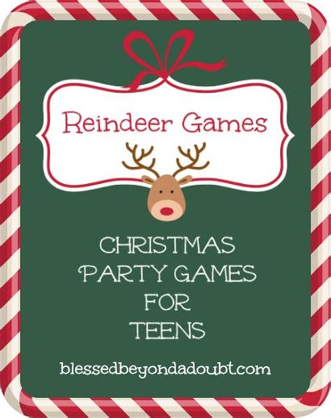 free printable reindeer names printable christmas party games for teens christmas