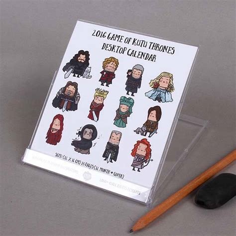 game of thrones desk accessories game of thrones inspired desk calendar 2016 gadgetsin