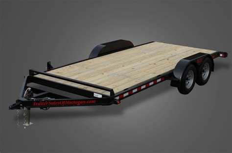 with trailer wood floor car trailers by trailer sales of michigan