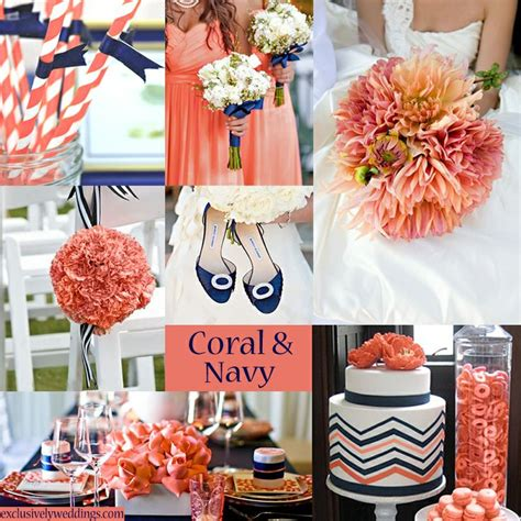 coral and navy wedding colors fun wedding colors pinterest