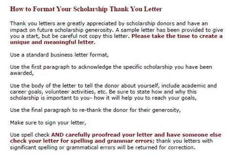 Scholarship Thank You Letter From Parents Kvcc Foundation Scholarship Recipient Information