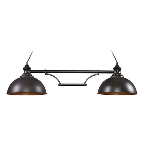 Bronze Island Light Fixtures Led Island Light In Bronze Finish 2 Lights 65150 2 Led Destination Lighting