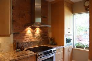 brick look kitchen wall tiles with orange tile backsplash vector picture