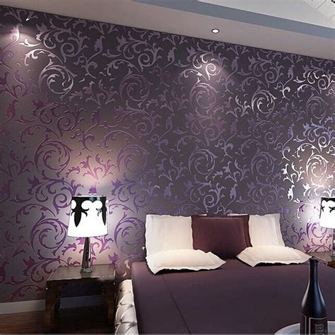 wallpapers for bedrooms walls purple and cream bedroom wallpaper high quality wall paper 3d fashion papel de