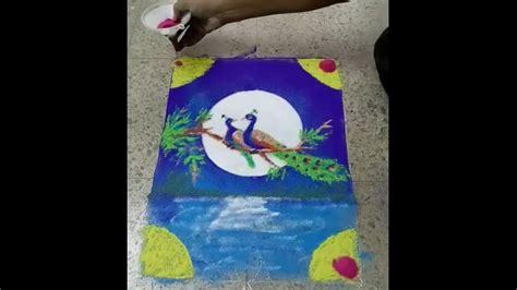 poster design rangoli kojagiri sharad purnima special colorful nice shading