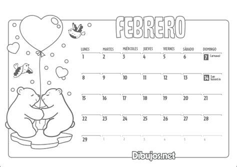 Calendario G F 2016 Fichas De Primaria Calendario Para Colorear 2016