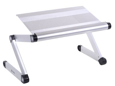 pwr 174 adjustable vented laptop table notebook computer desk portable bed tray ebay