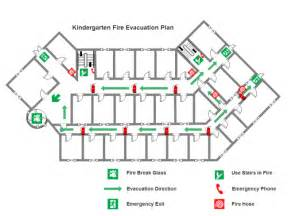 evacuation center floor plan kindergarten fire evacuation plan templates