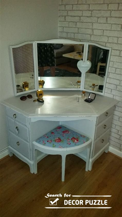 Corner Vanity Desk by Unique Modern Corner Dressing Table Designs For Small Bedroom