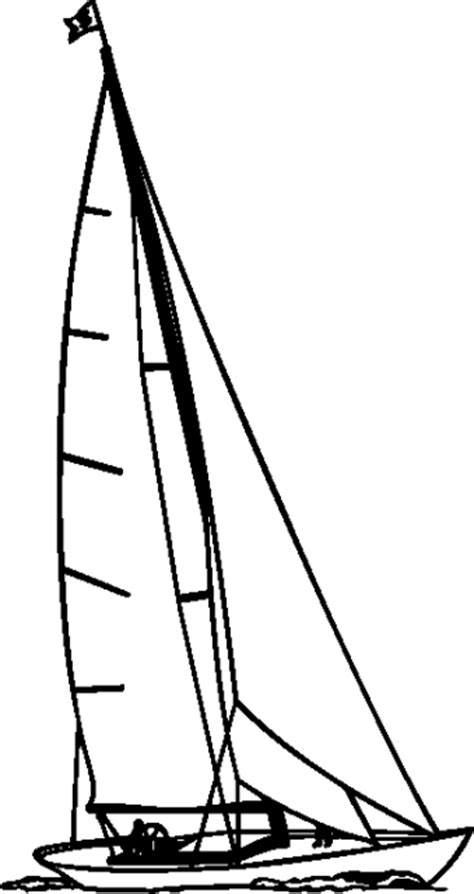 sailboat line drawing vector sailboat line drawing clipart best