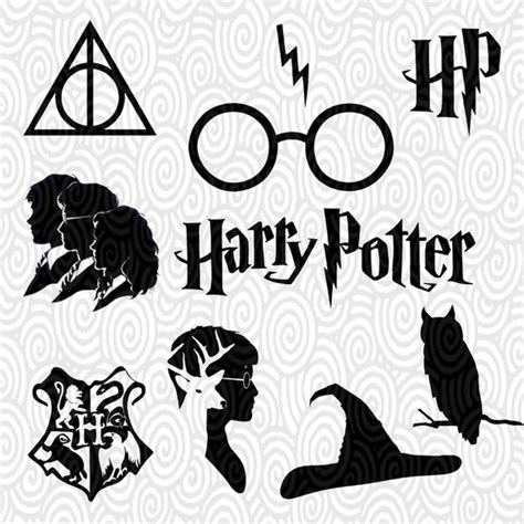 Cricut Machine Templates Cricut Template Harry Potter Silhouette No Fill Png Files