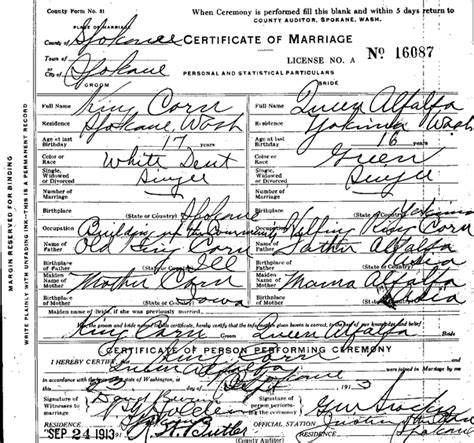 Washington Marriage Records Washington State Archives Digital Archives News
