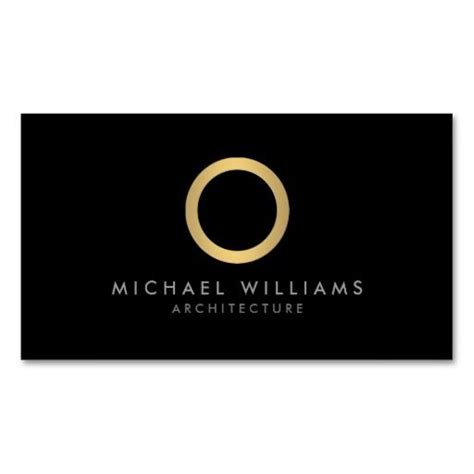 circle business card template modern simple gold circle black business card template
