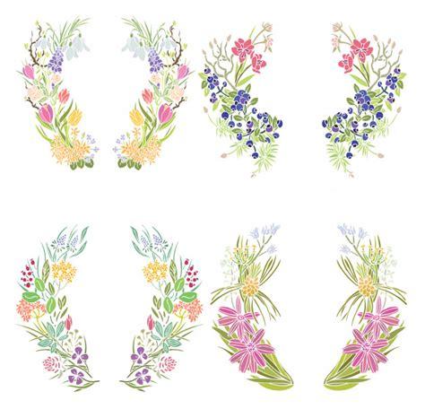 cornici floreali gratis quattro cornici floreali scaricare vettori gratis
