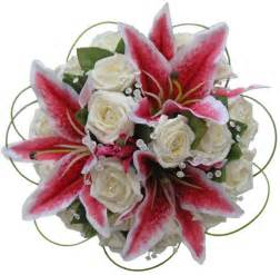 roses and lilies pink stargazer ivory diamante bridal bouquet s flowers