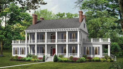 Plantation Floor Plans Plantation Style Designs From 2 Story Southern Home Plans