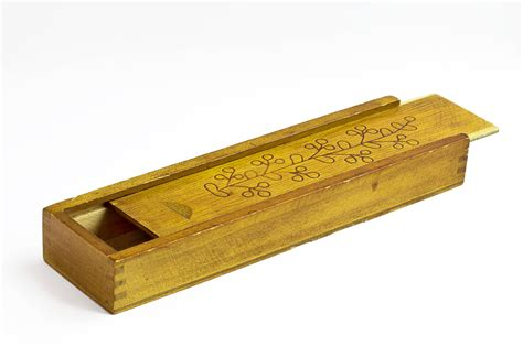 Rustic Charm Home Decor by Wooden Pencil Box Vintage Wood Pencil Case Office By Osikosik