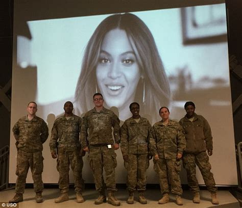 does the mail run on new years beyonc 233 sends message to us troops before screening