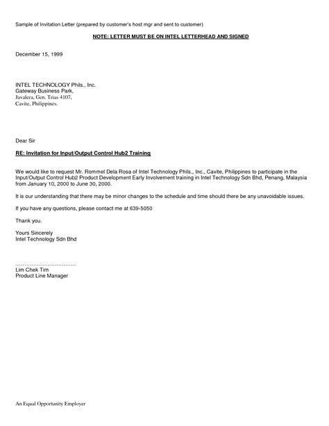 business letter format philippines sle invitation letter for business visa to philippines