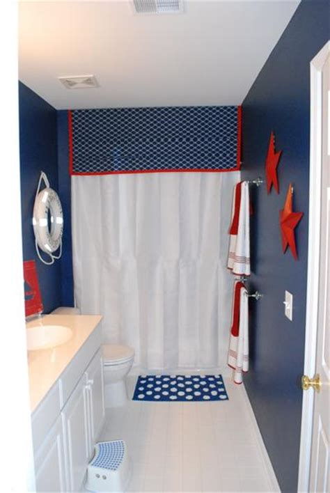 red white and blue bathroom decor american inspired red white blue bathrooms rotator rod