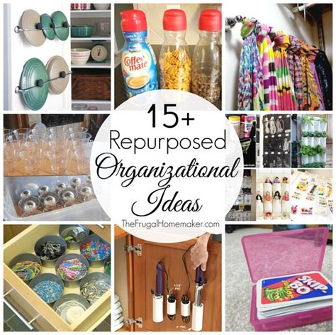 Cheap Kitchen Canisters by 15 Repurposed Organizational Ideas