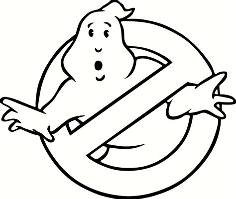 ghostbusters coloring pages ghostbusters symbol to in free coloring pages
