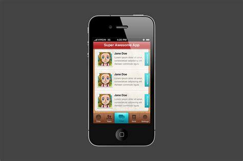 iphone app template iphone app psd template creative vip