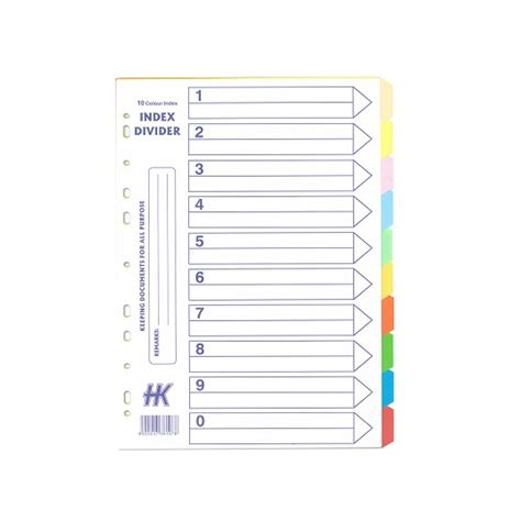 color dividers 5 colour paper divider hua kee paper products pte ltd