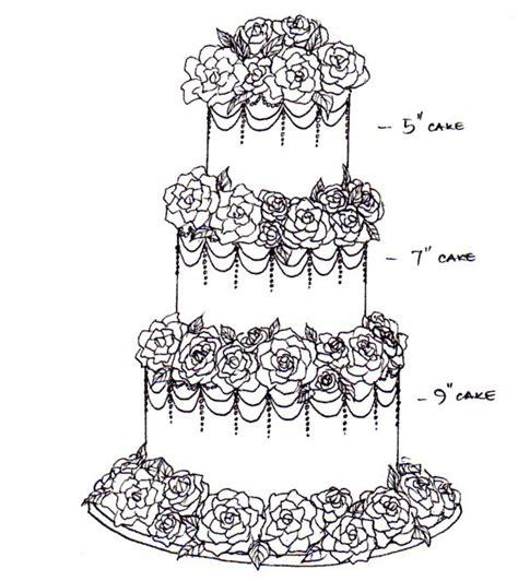 Hochzeitstorte Zeichnung by Image Gallery Cake Sketch