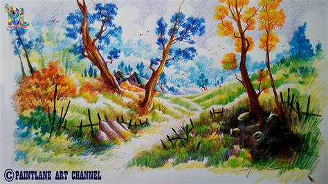 how to shade with colored pencils nature shading using colour pencils how to draw and shade