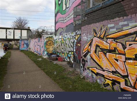 tattoo fixers hackney east london graffiti and wall art along the hackney cut hackney wick