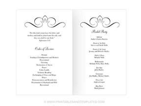 wedding program design templates wedding programs template