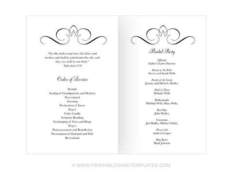wedding programs template