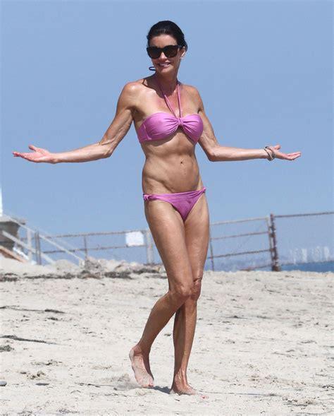 celebrities over 50 in bathing suits janice dickinson showing off her bikini body in malibu