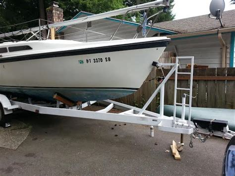 ladder on boat trailer on trailer boarding ladder suggestions sailboatowners