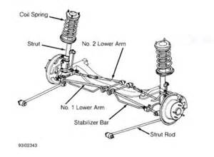 1998 lexus es 300 rear suspension arm suspension problem