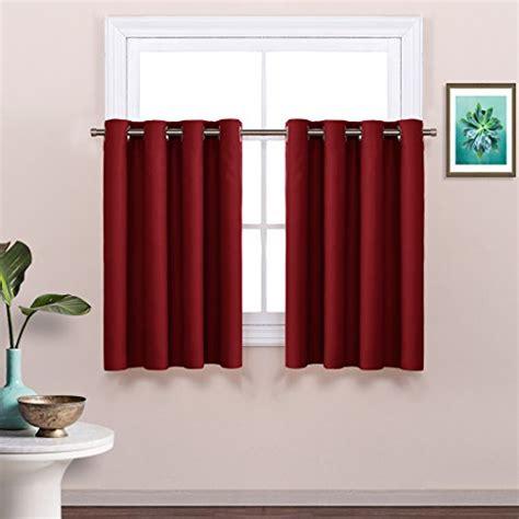 window curtains 36 length nicetown room darkening half window tier valance