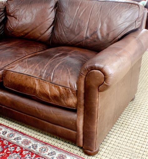 fix a leather couch fix flattened down leather sofa cushions modhomeec