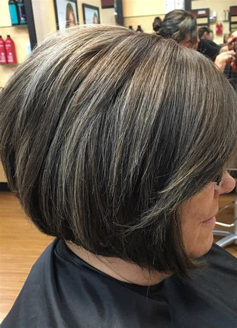 how to create gray highlights in brown hair 60 gorgeous hairstyles for gray hair