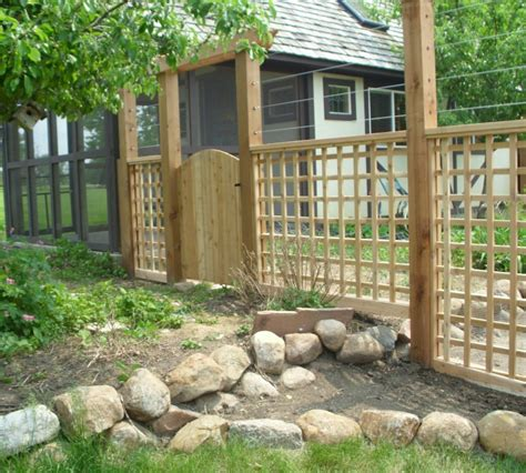 the american fence company wood fencing custom garden