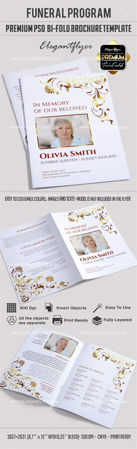 free funeral brochure templates brochure for funeral program template by elegantflyer