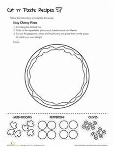 cut n paste pizza coloring page education com