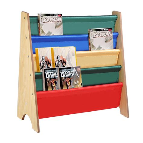wooden sling canvas bookcase bookshelf nature magazine