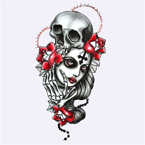 gothic pin up girl tattoo designs traditional design