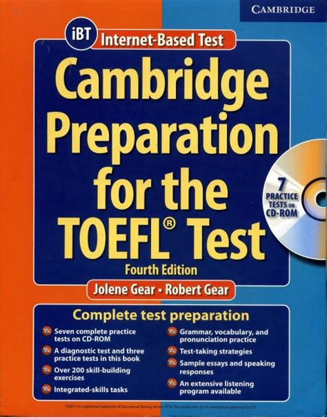 Succeed In The Toefl Ibt Test Cd Audio materials cambridge preparation for the toefl