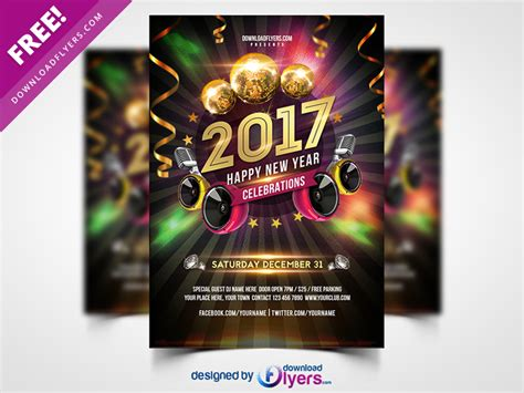new year design psd new year 2017 flyer free psd by flyer psd dribbble